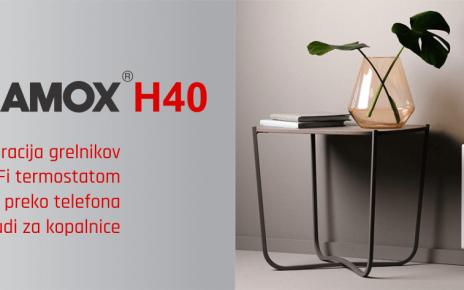 Električni radiator z WiFi - GLAMOX H40