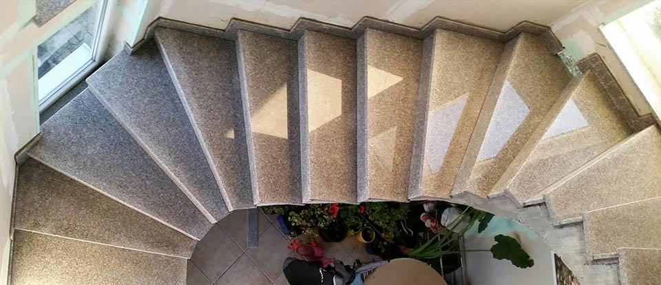 Notranje granitne stopnice (Kamen-Mojster.si)